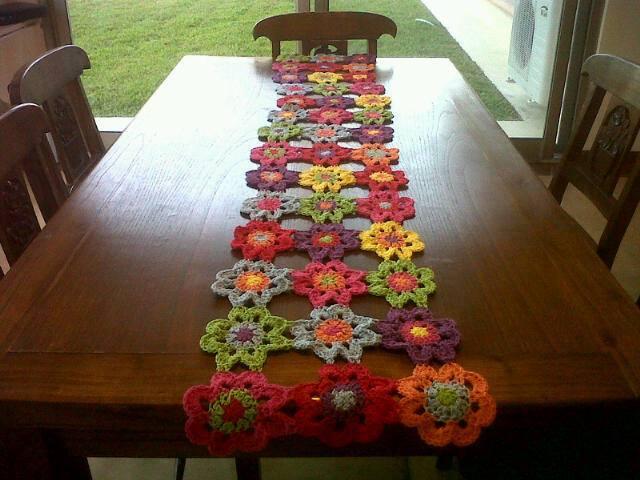 Originales ideas para mezclar lanas katia la mercer a - Caminos de mesa originales ...