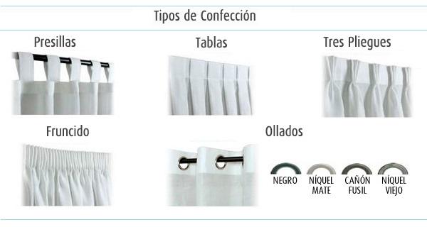 Cortinas la mercer a de mar a teresa - Tipos de cintas para cortinas ...